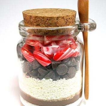 Hot Chocolate Mix in Jar with Mini Wooden Spoon