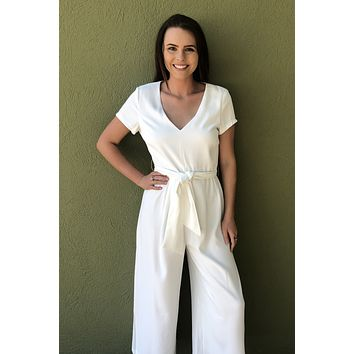 Day Dreaming Jumpsuit- White