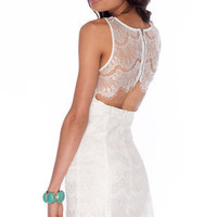 Eyelashed Out Tank Dress in White :: tobi
