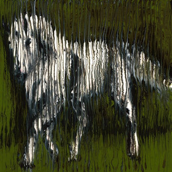 Standing Horse in Greens