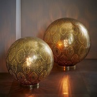Moroccan Metal Orb Light