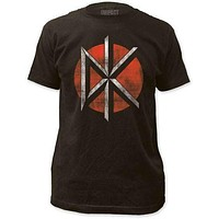 DEAD KENNEDYS DISTRESSED LOGO FITTED JERSEY TEE BROWN