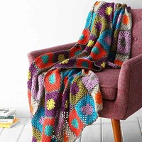 Plum & Bow Granny Throw Blanket- Grey One