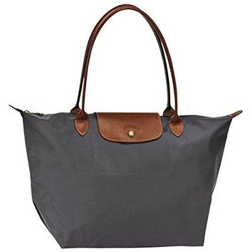 "Large tote bag L ( gun metal ) by longchamp paris "" LE PLIAGE"" 100% authentic original from PARIS FRANCE"