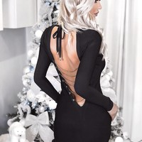 Jeky Little Black Dress with chain detail