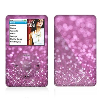The Pink Unfocused Glimmer Skin For The Apple iPod Classic