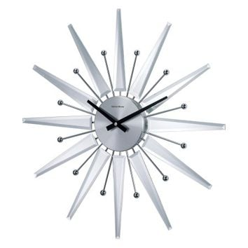 George Nelson Mirrored 19.375 in. Starburst Wall Clock - Walmart.com
