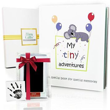 First 5 Years Baby Memory Book + Clean-Touch Ink Pad + Gift Box