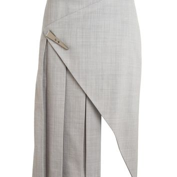 Prabal Gurung Wool Flannel Skirt