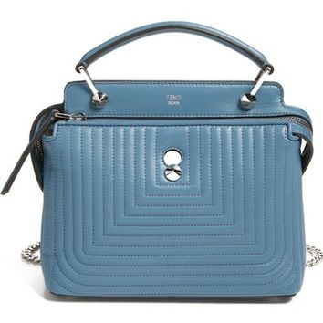 Fendi 'DOTCOM Click' Quilted Leather Satchel | Nordstrom