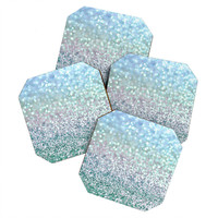 Lisa Argyropoulos Blue Mist Snowfall Coaster Set