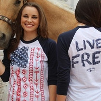 Live Free with American Flag