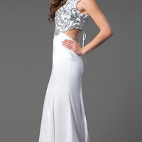 Floor Length Cap Sleeve Formal Dress