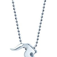 "Alex Woo ""Little Signs"" Sterling Silver Sea Goat (Capricorn) Pendant, 16"""