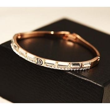 Dior Trending Women Stylish Delicate Diamond Crystal Bracelet I12872-2