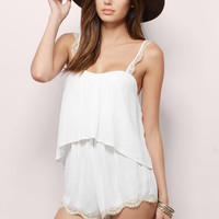 Wishful Alibi Tiered Romper