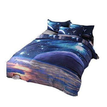 Galaxy 3D Bedding Sets Universe Outer Space Duvet cover  pillowcase