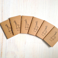 Tiny Journals: Notebooks, For Baby, Baby Shower, Favors, Brown, Small Notebooks, Unique, Gift, Stocking Stuffer, For Him, For Her, Hostess