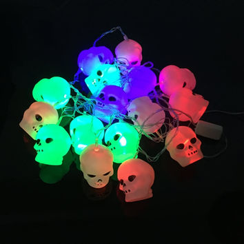 Holiday 3.5M 20 LED Skulls String Light Popular Decorative Light for Halloween Perfect Option in Garden Yard
