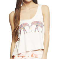 Elephant Printed Tank | Wet Seal