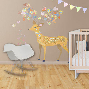 Large Kids Decor Kids Wall Decal Kids Wall Decor - Animal Tree Decal - Nursery Decor Kids Art Baby Girl Baby Gift Baby Shower Playroom Decor
