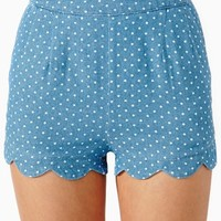 Hot Dot Scallop Shorts