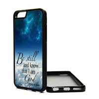 Apple iPhone 6 6 PLUS 5C 5S 4S Generation Fitted Rubber Silicone TPU Phone Case Cover Psalm 46:10 God Bible Quote