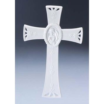 "10"" White Battery Operated Flameless LED Lighted 3-Wick Flickering Wax Christmas Pillar Candle"