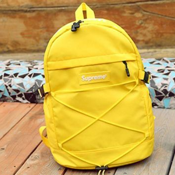 DCCK7XP Supreme Fashion Casual Sport Daypack Bookbag Shoulder Bag Travel Bag School Backpack Yellow G