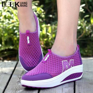 2017 women creepers platform shoes woman ladies trainers shoes height increasing chaus