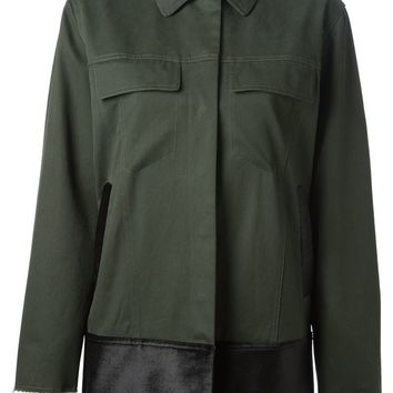 MM6 By Maison Martin Margiela Velvet trim coat