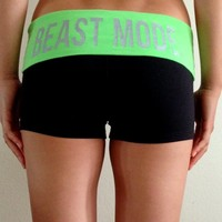oGorgeous Gym Boutique - Beast Mode Booty Shorts in Clover