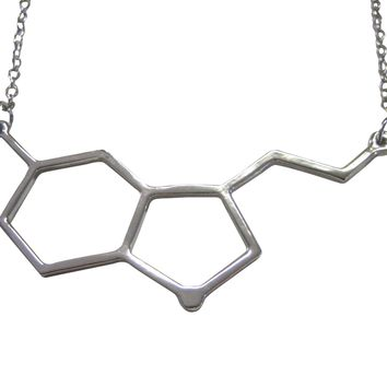 Serotonin Molecular Design Pendant Necklace
