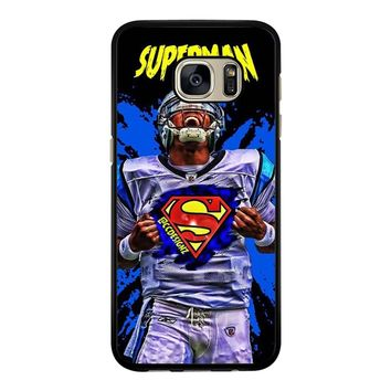 Superman Cam Newton Carolina Samsung Galaxy S7 Edge Case