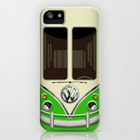 Summer Holiday green kombi camper VW Volkswagen minivan minibus apple iPhone 4 4s, 5 5s 5c, 6, iPod & samsung galaxy s4 case