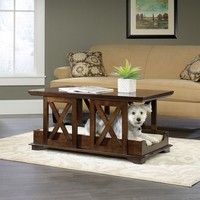 Sauder Coffee Table Dog Bed (Brown)