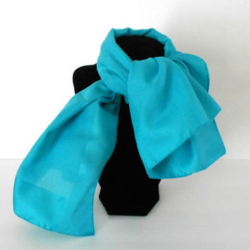 Christmasinjuly CIJ Vintage Blue Scarf Made in Italy