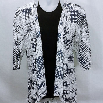 17647 Lularoe Monroe Kimono in Geo Mixed Dot Print - Size L but fits up to 2X