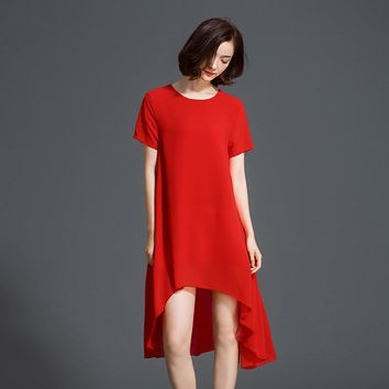 Short Sleeve Casual Temperament Dress 861E 25
