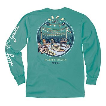 Warm and Toasty Long Sleeve Tee in Seafoam by Lily Grace
