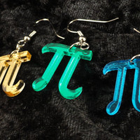 Pi Symbol Acrylic Earrings