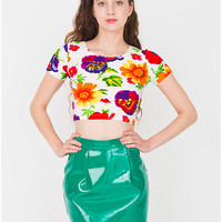 Vinyl Mini Skirt | American Apparel