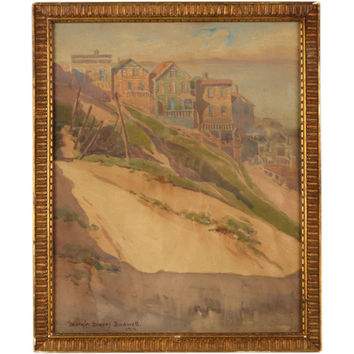 1STDIBS.COM - Conor Fennessy - Georgia Graves Bordwell - San Francisco Watercolor by Georgia Graves Bordwell (1877-1925)