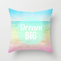 Dream Big Throw Pillow by M Studio
