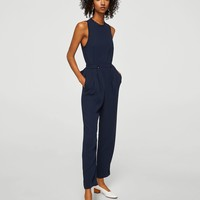 Bow long jumpsuit - Women | MANGO USA