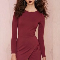Nasty Gal Laila Dress - Burgundy