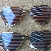 'Merica heart sunnies from PeaceLove&Jewels