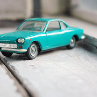 Vintage matchbox car FIAT-SIATA 1500.  Collection car. Scale 1/43. Vintage model car. Metal. Turquoise.  Vintage car. Soviet toy