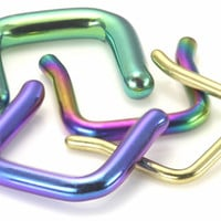 16g Titanium Septum Retainer 18 Color Choices :: Captive Bead Rings :: Painful Pleasures, Inc.
