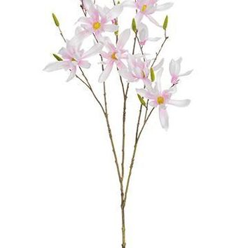 """Artificial Japanese Magnolia Branch in Pink - 32.5"""" Tall"""